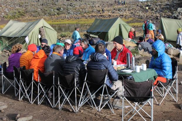 dining on kilimanjaro